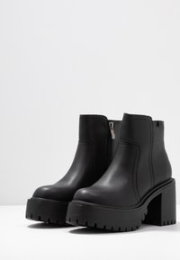 Coolway - BORNISE - High heeled ankle boots - black - 4