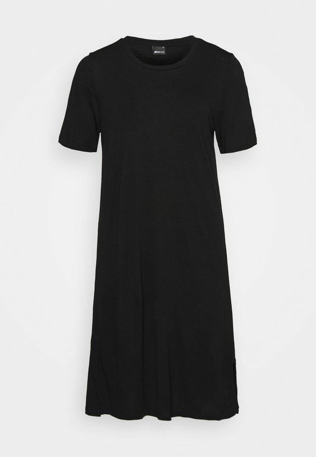 LILJA T SHIRT DRESS - Vestito di maglina - black