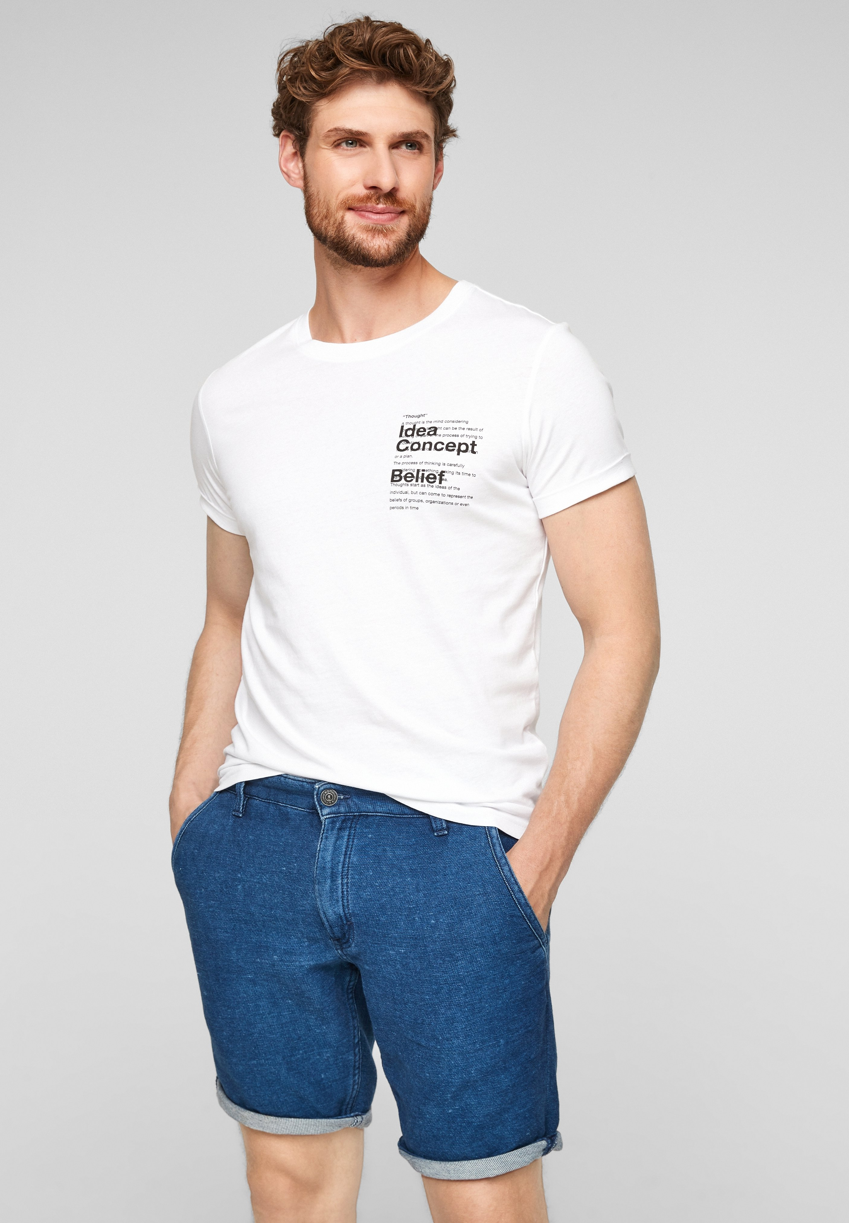 Homme PANTALON - Short en jean