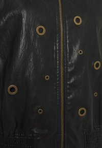 TWINSET - BOMBER IN TESSUTO - Faux leather jacket - nero - 2