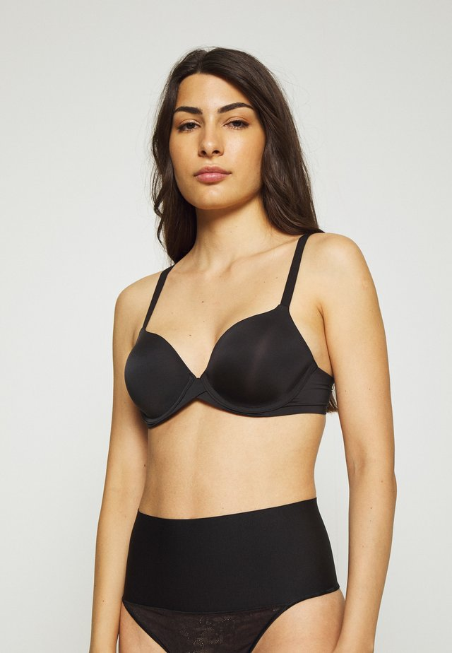 TAILORED OR EMBELISHED DEMI BRA - Podprsenka s kosticemi - black
