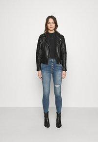 Calvin Klein Jeans - MICRO BRANDING - Long sleeved top - black - 1