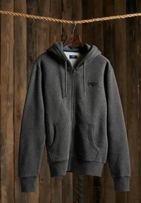 Superdry - CLASSIC ZIPHOOD - Zip-up hoodie - dark marl - 0