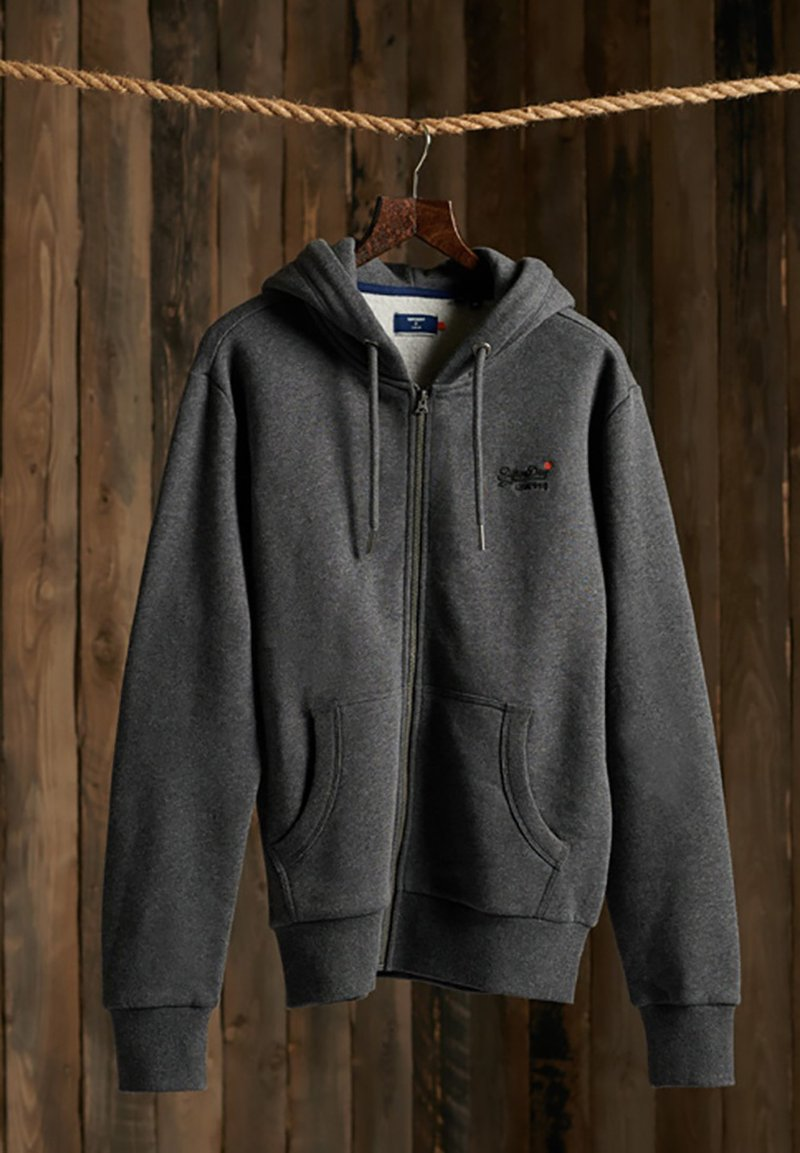 Superdry - CLASSIC ZIPHOOD - Zip-up hoodie - dark marl