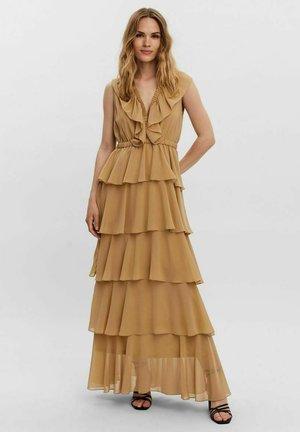 V-AUSSCHNITT- - Maxi dress - travertine