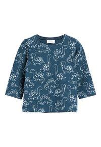 Next - BLUE 3 PACK DINOSAUR T-SHIRTS (0MTHS-3YRS) - Langærmede T-shirts - blue - 2