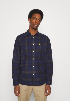 BRUSHED CHECK - Skjorta - dark navy