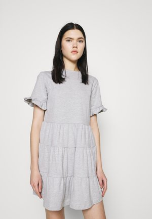 FRILL SLEEVE TIERED SMOCK DRESS  - Žerzejové šaty - grey marl
