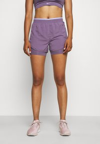 Nike Performance - TEMPO LUXE SHORT - Sports shorts - amethyst smoke/purple pulse/silver - 0