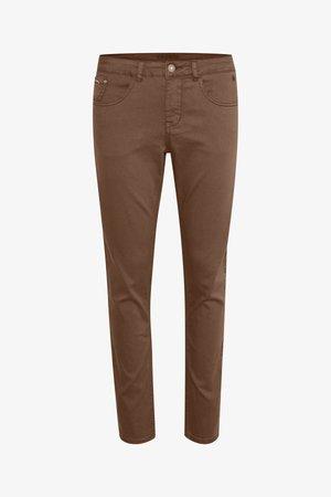 LOTTECR PLAIN TWILL - COCO FIT BCI - Slim fit jeans - brown