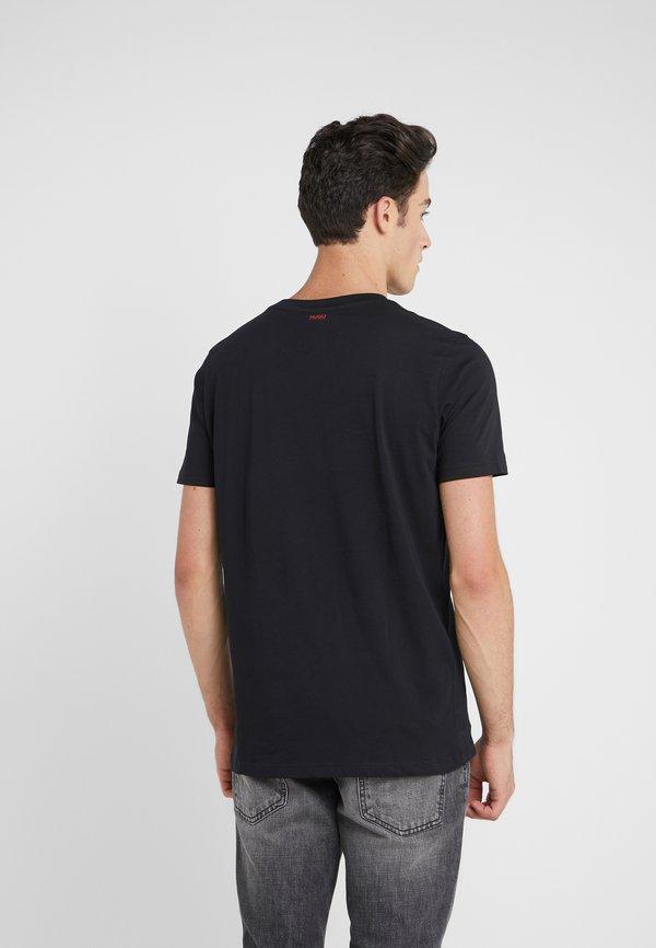 HUGO DUPPY - T-shirt z nadrukiem - black/czarny Odzież Męska EFOZ