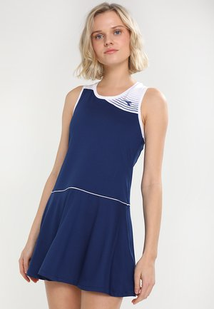 COURT - Jersey dress - saltire navy