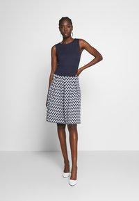 Anna Field - Jersey dress - white/maritime blue - 1