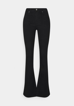 ONLWAUW LIFE - Flared Jeans - black denim