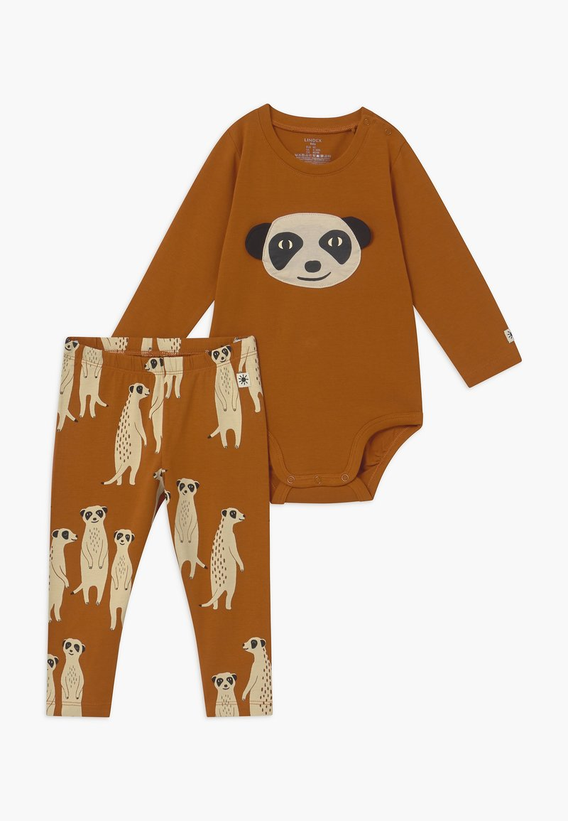 Lindex - LEO & MEERKAT SET  - Leggings - brown