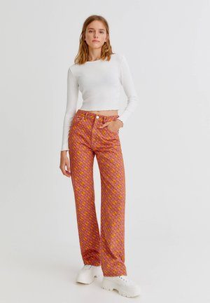 Jeans straight leg - pink