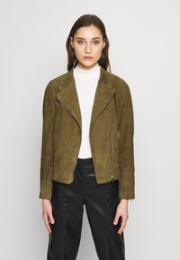 Pedro del Hierro - JACQUET - Leather jacket - green - 0