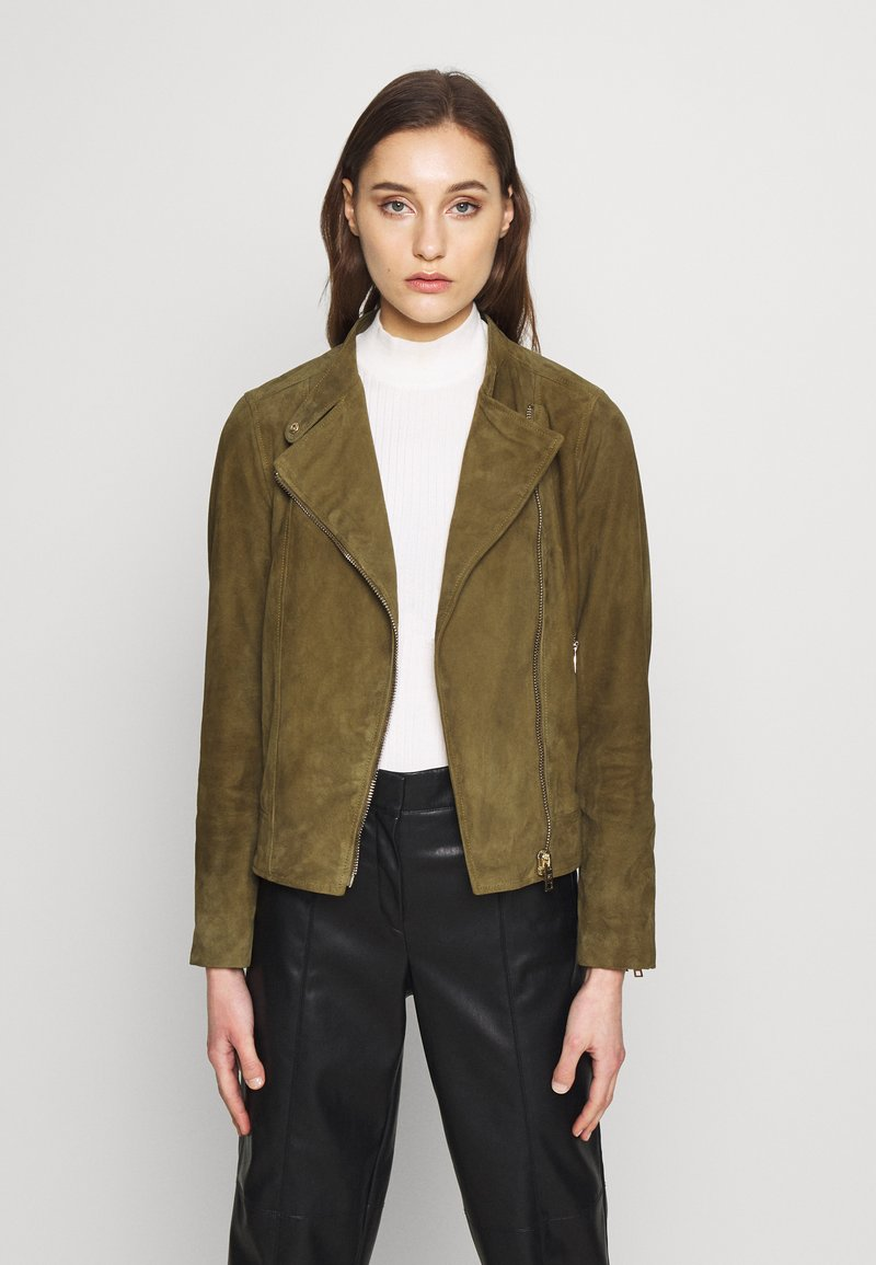Pedro del Hierro - JACQUET - Leather jacket - green
