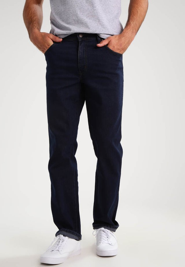 TEXAS STRETCH - Straight leg jeans - blue black