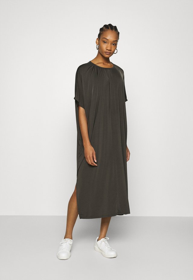 SENSE DRESS - Maxikjole - black olive