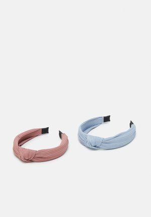 ALICE BAND KNOT SOLIDS 2 PACK - Hair styling accessory - light dusty blue