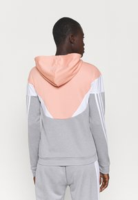 adidas Performance - COLORBLOCK - Tracksuit - ambient blush/medium grey heather/white - 2