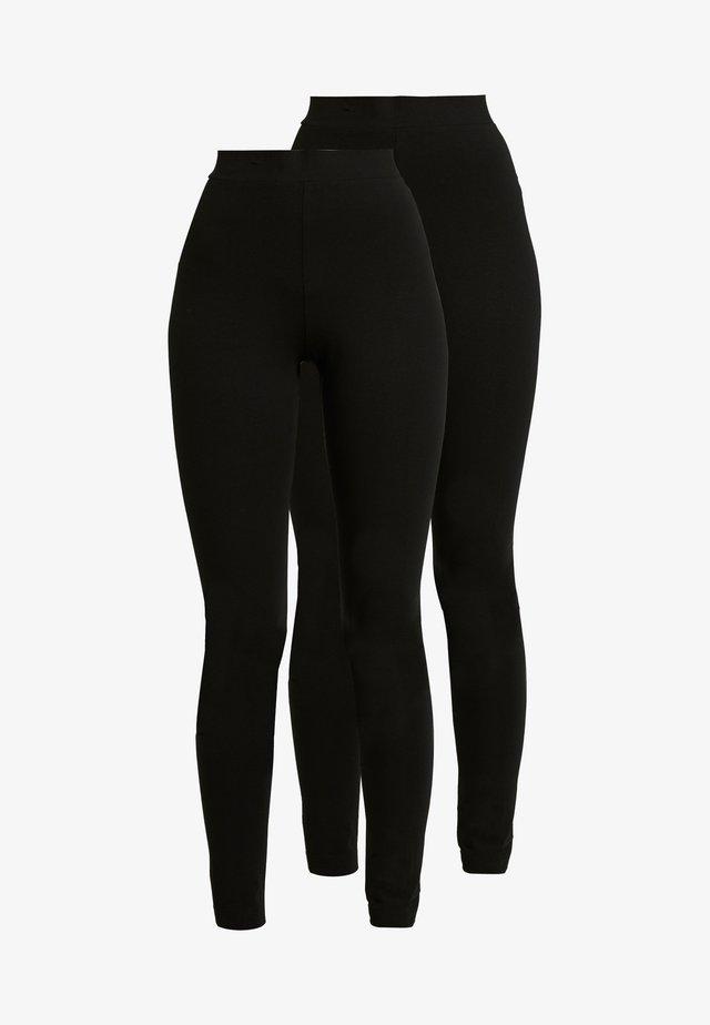 ED 2 PACK - Leggings - Hosen - black dark