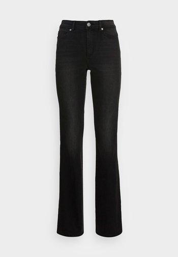 ONLWAUW LIFE MID FLARED - Flared jeans - dark grey denim