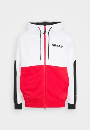 Bluza rozpinana - white/university red/black