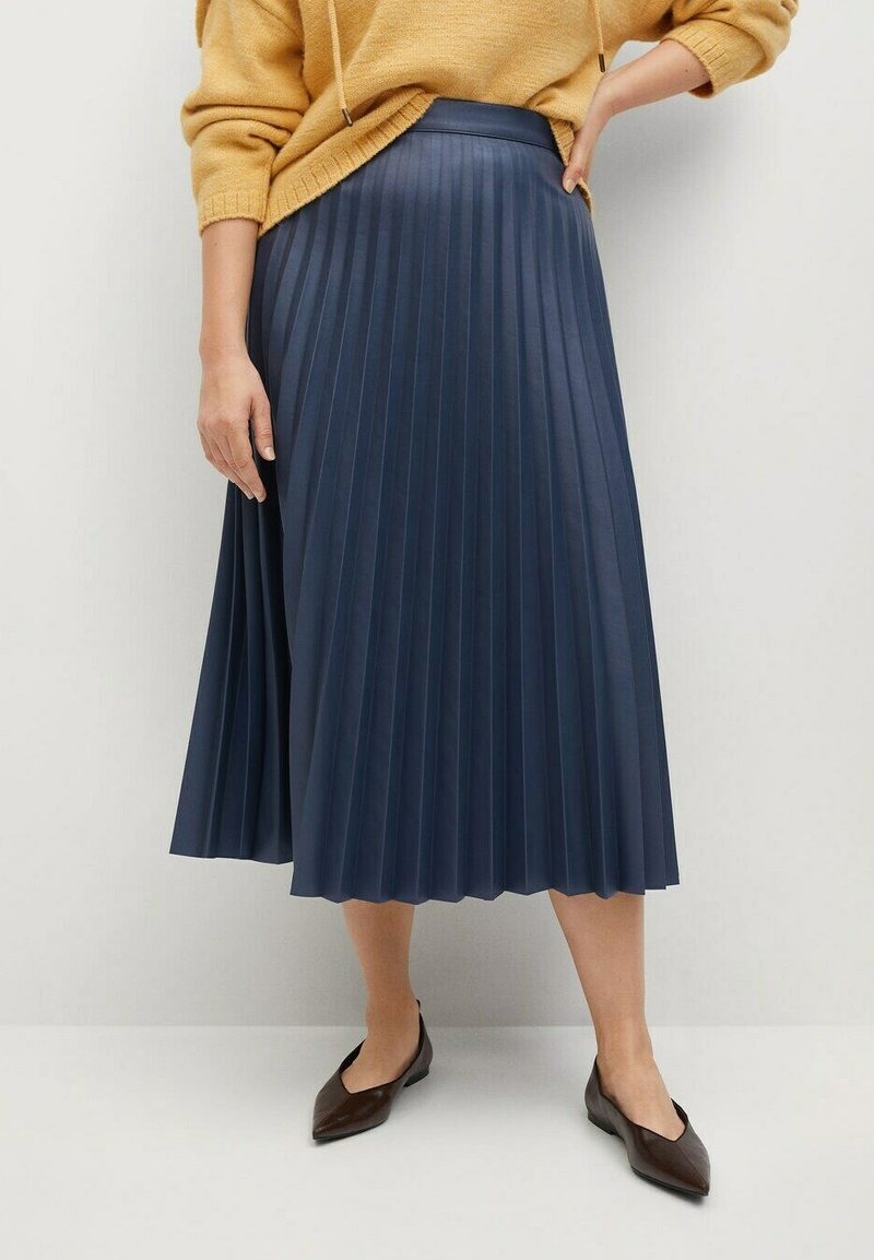 Violeta by Mango - PLISA - A-line skirt - azul