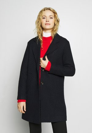 STRUCTURE COAT - Kåpe / frakk - navy