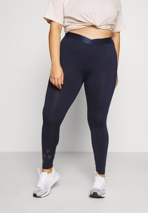 ONPMILEY TRAINING CURVY - Tights - maritime blue/white/gold