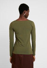 Anna Field - BASIC ROUND NECK LONG SLEEVES - Long sleeved top -  khaki - 2