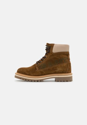 PALMONT - Lace-up ankle boots - tobacco/dry sand