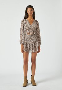 PULL&BEAR - Mini skirt - brown - 1