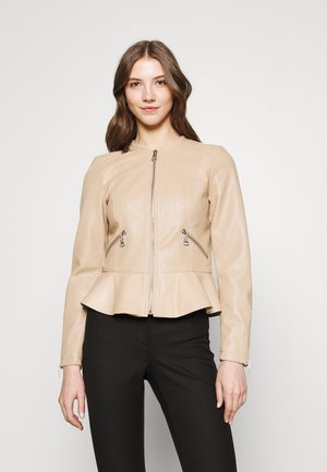 VMAVERYALLY JACKET - Faux leather jacket - beige