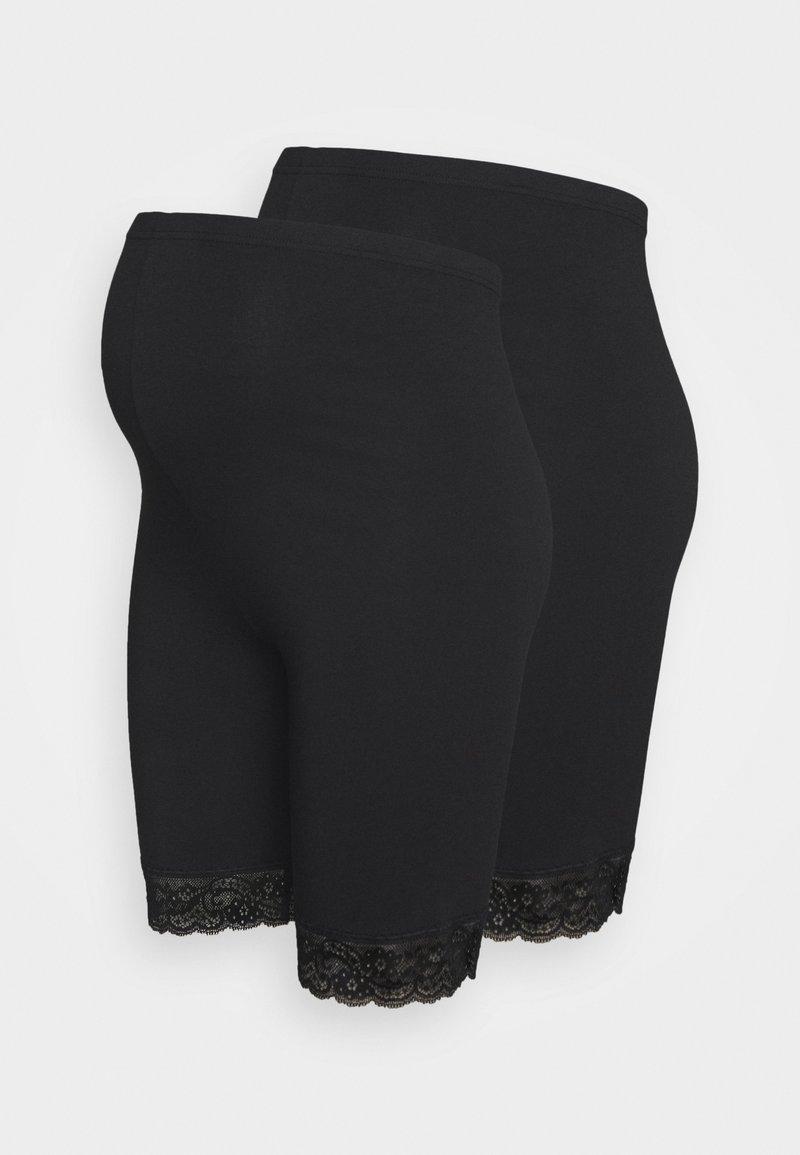 MAMALICIOUS - MLLENNA 2 PACK - Shorts - black