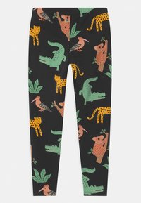 Lindex - MINI ANIMAL UNISEX - Leggings - off black - 1