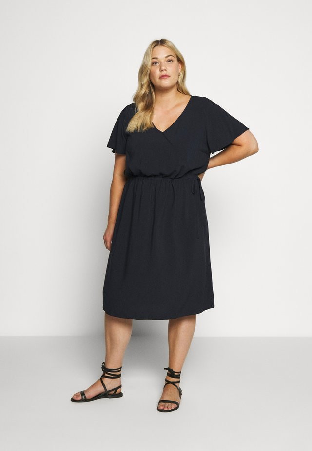 FEMININE FLUENT DRESS - Korte jurk - real navy blue
