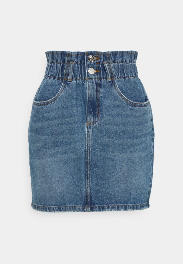 ONLMILLIE LIFE PAPER SKIRT - Mini skirt - medium blue denim