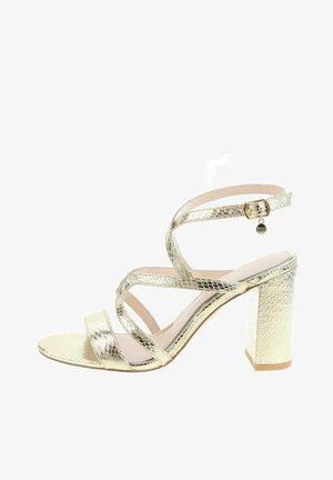 MACERE - Sandály na vysokém podpatku - gold