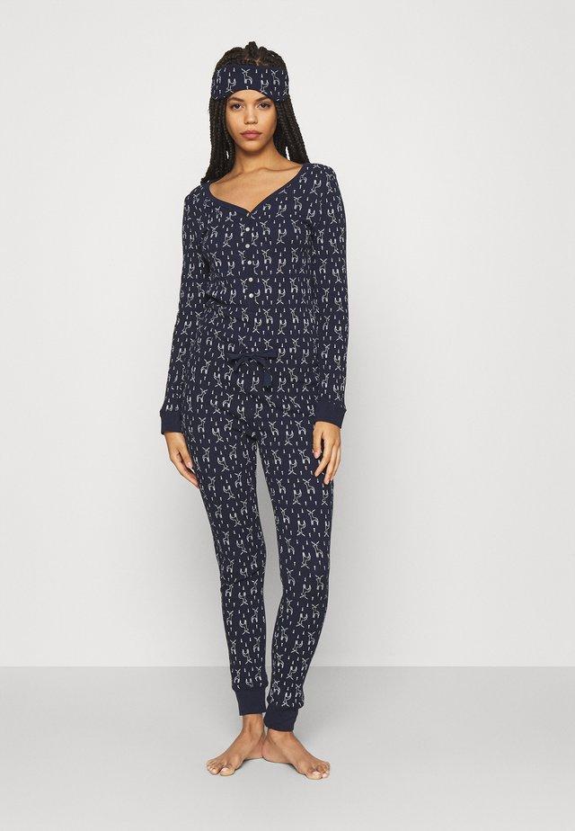 GIFTING JUMPSUIT - Pyžamo - dark blue