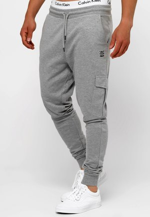 BENDNER - Cargo trousers - grey mix