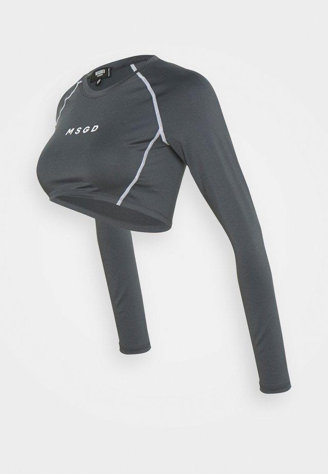 ACTIVE CROP - Maglietta a manica lunga - charcoal