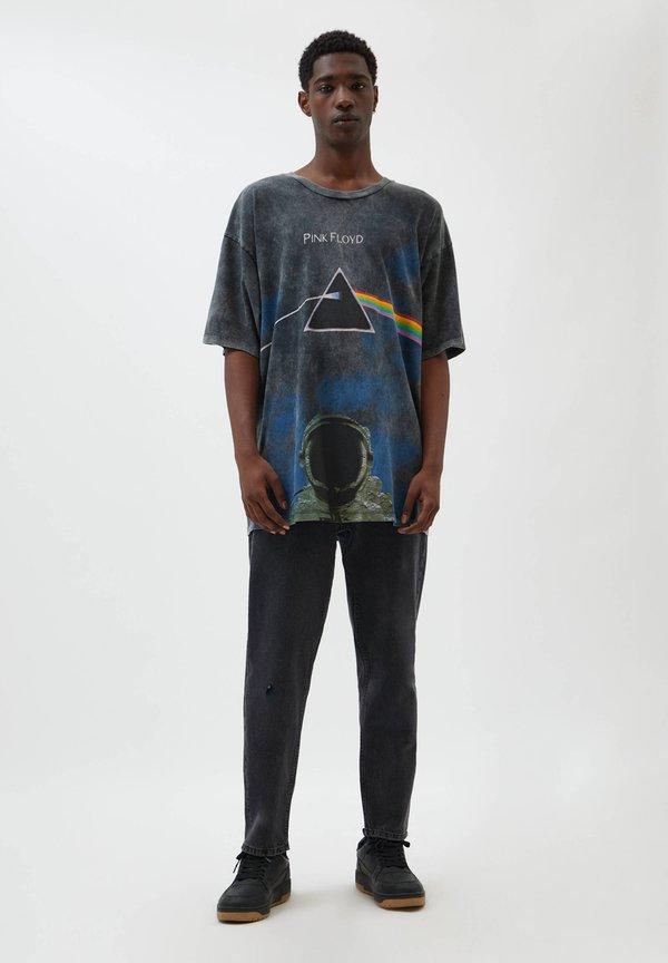 PULL&BEAR T-shirt z nadrukiem - black/czarny Odzież Męska FXBU