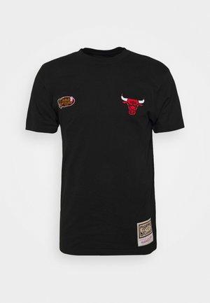 NBA CHICAGO BULLS EMBROIDERED LOGO TEE - Vereinsmannschaften - black