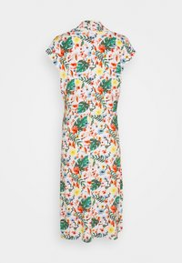 TOM TAILOR - DRESS WITH DRAPED COLLAR - Denní šaty - white - 1