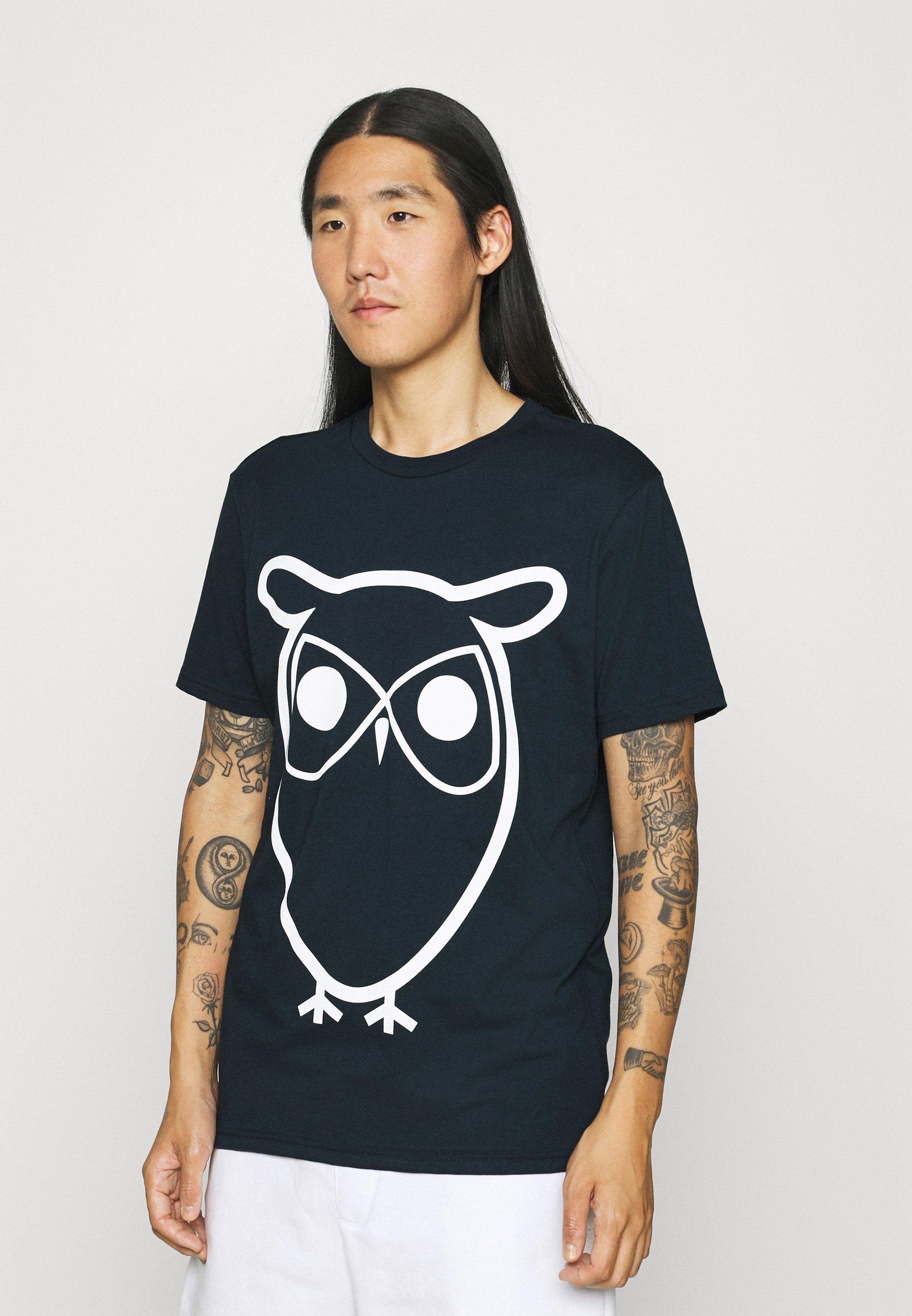 Men ALDER BASIC OWL TEE  - Print T-shirt