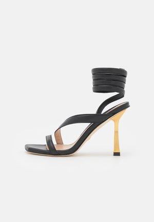 BEATRIX WRAP - Sandals - black/gold