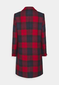 Tommy Hilfiger - BLEND CHECK CLASSIC COAT - Classic coat - primary red - 1